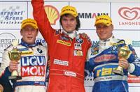Владимир Лабазов из АВТОDОМ Racing на золотой ступени в Oschersleben, фото 1