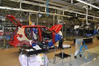 Сборочный конвейер завода Volkswagen в Калуге