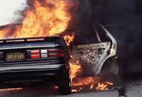 Американец приехал на горящей машине к пожарным!, фото 1