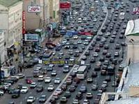 Автомобильная пробка в Москве