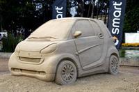 Песочная скульптура Smart Fortwo 2007