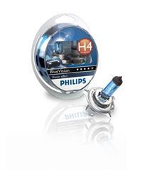 Галогеновая лампа Philips Blue Vision с эффектом ксенонового света